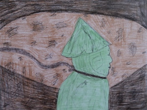 One of my favorite recent art works I created...fitting for how I felt about art back in elementary school.