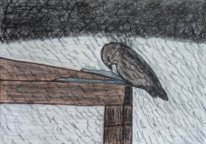 """Facing the Storm"" ACEO mixed media artwork. Kind of how I felt this year!"