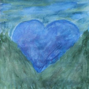 """Blue Heart Sunrise"""
