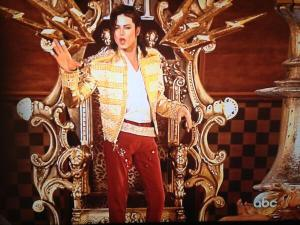 Michael's hologram performing on the Billboard Music Awards.
