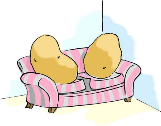 couch-potato-cliparts-3 public domain